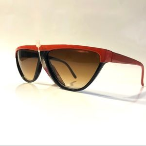 Other - 1980s Futuristic Sunglasses, Black & Red, Vintage